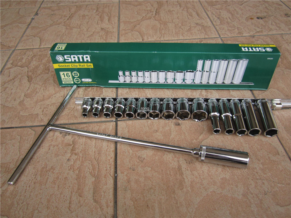 Sata Tools 1/2' Dr. T-Handle c/w 16pcs 1/2' Dr. Socket Set