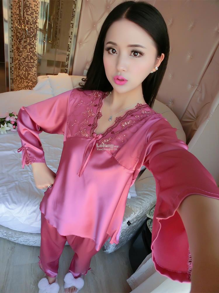 acf4617c70a6b Satin Ice Silk Lingerie Suit Pyjamas (end 6 28 2019 5 15 PM)