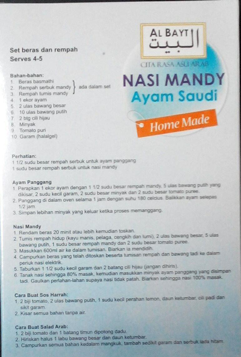 save more with nasi arab home made.. (end 12/1/2018 1:45 am)