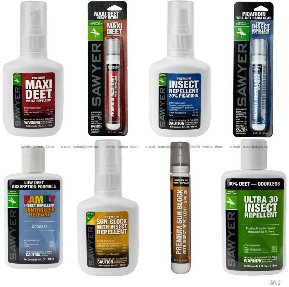 SAWYER Insects Mosquitoes Flies Chiggers Gnats Repellents - Sunblocks
