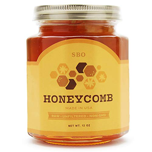 SB Organics Honeycomb Jar - 12 oz Jar of Premium California Sage Raw Unfiltere