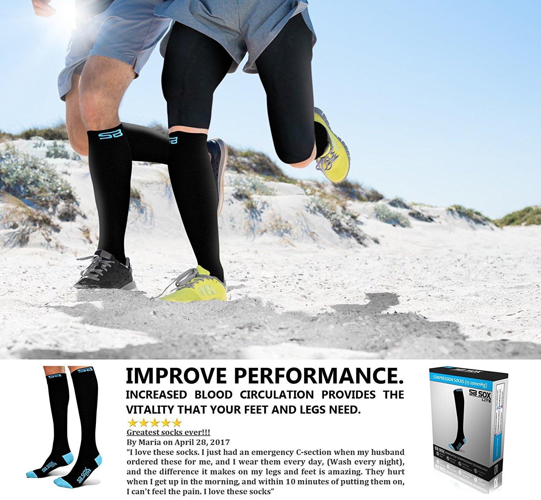 3d581f167f SB SOX Lite Compression Socks (15-20mmHg) for Men & Women-Blue