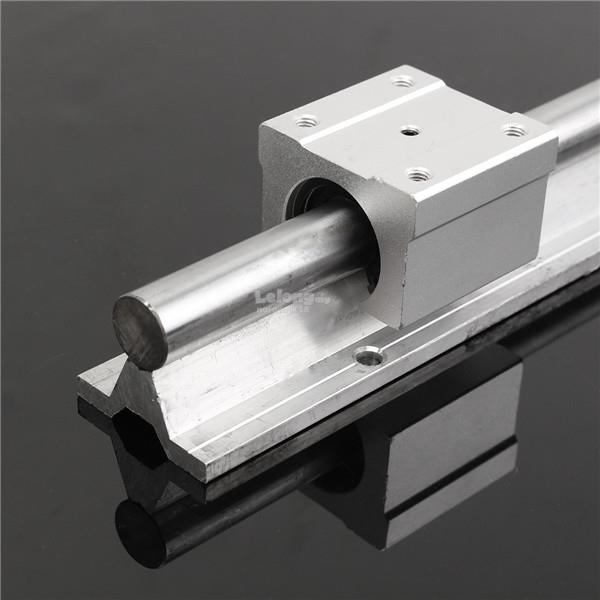 SBR16 400mm Support Linear Rail Optical Axis Guide with 2pcs SBR16UU B