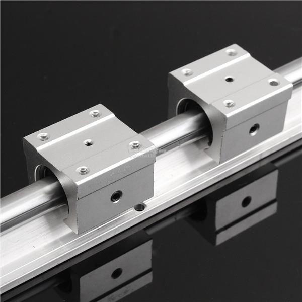 SBR16 450mm Fully Support Linear Rail Shaft Rod with 2pcs SBR16UU Bear