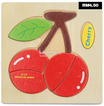SBT3 Kids Wooden Puzzle (Cherry)