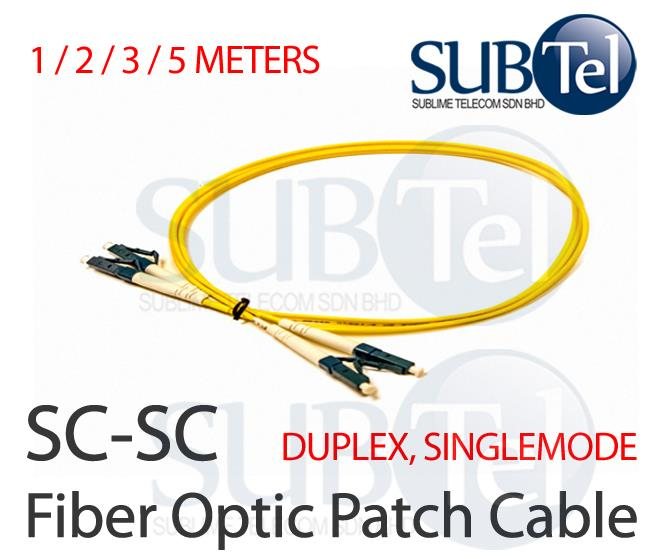 SC-SC Duplex Single Mode Optic Fiber Patch Cord FTTH 1M 2M 3M 5M Cable