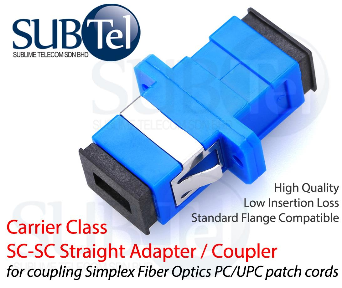 SC-SC SMF Singlemode Fiber Optic Adapter Coupler for Patch Panel
