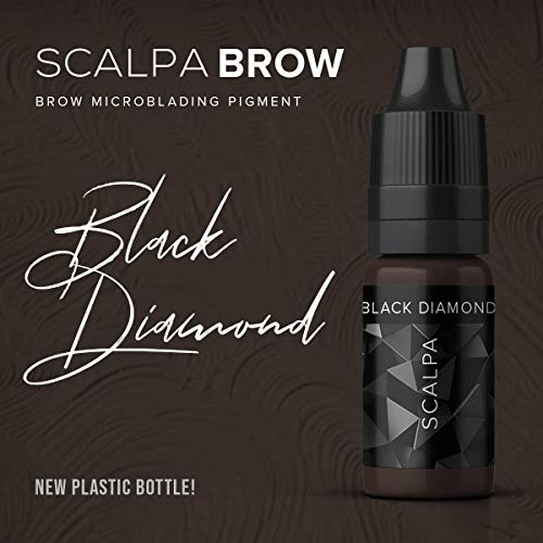 ..// SCALPA Superior Microblading Pigment for Eyebrows/Brows, Black Diamond (O