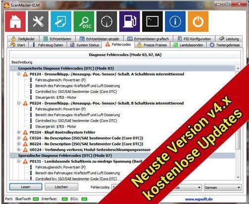 ScanMaster-ELM OBD-2 Software for ELM327
