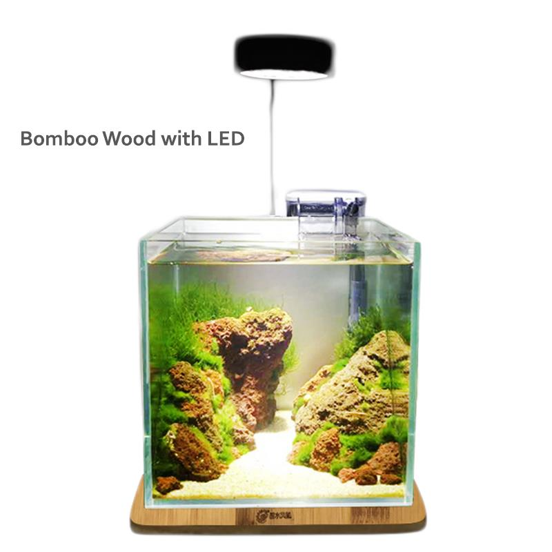 Scape Depot Bamboo Wood With 3W Led(Aquascape/Terrarium/Vivarium/Light