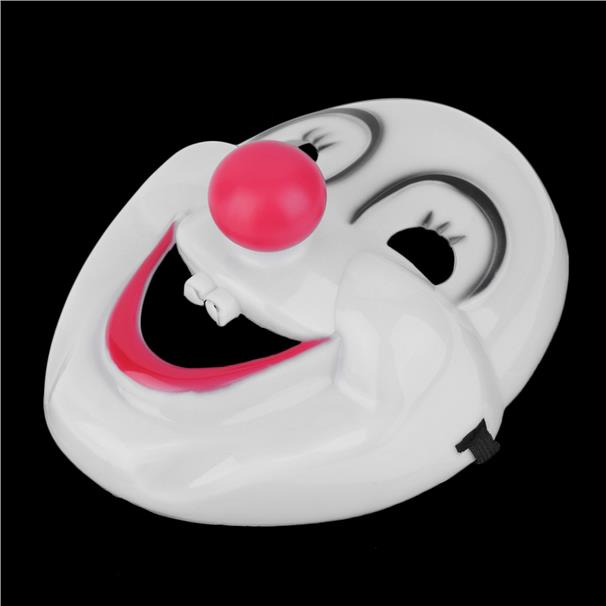 Scary Crazed Clown Horror Mask Halloween Fancy Dress Circus Troupe Par