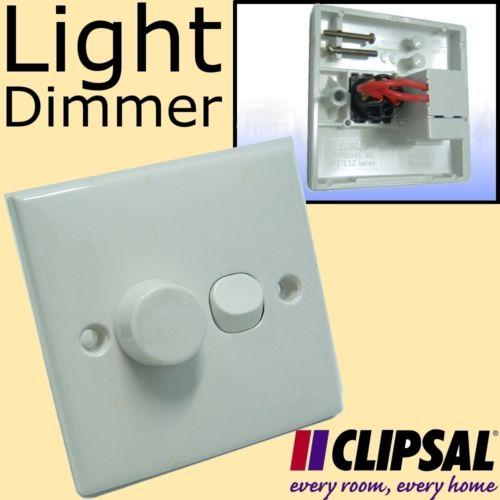 Schneider CLIPSAL Variable Light Dimmer Switch Control Lamp Brightnes