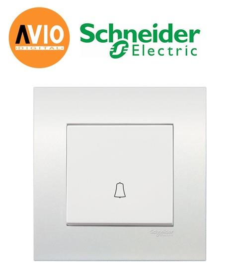 Schneider SCHKB31BPB Vivace 1 Gang Bell Press Switch