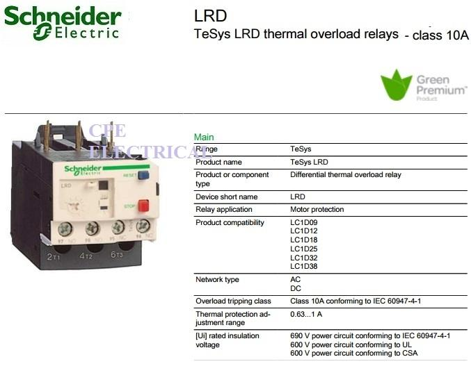 schneider tesys lrd thermal overload relays cpeelectrical 1607 28 cpeelectrical@2 schneider tesys lrd thermal overloa (end 7 28 2018 12 15 pm)  at gsmx.co