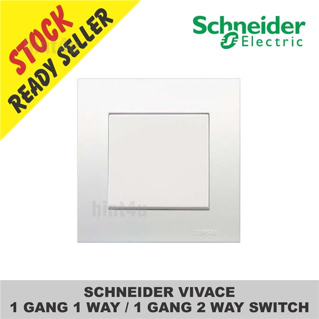 SCHNEIDER VIVACE 1 GANG 1 WAY / 1 G (end 1/25/2019 11:15 PM)