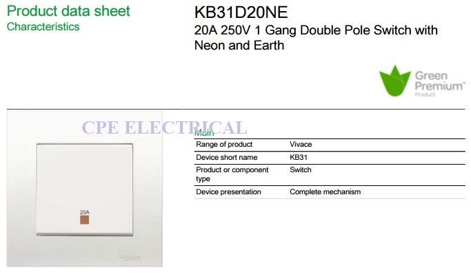 SCHNEIDER Vivace 20A Double Pole 1 W end 1242019 315 PM