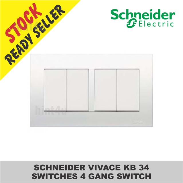 SCHNEIDER VIVACE KB34 SWITCHES 4 GA end 3272018 1015 PM