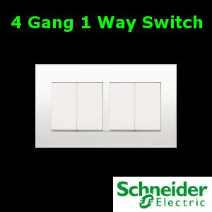 Schneider Vivace Series 4 Gang 1 Way end 7252019 415 PM