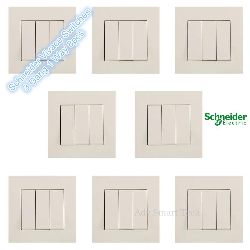 Schneider Vivace Switches 3 Gang 1 (end 7/28/2017 11:15 PM)