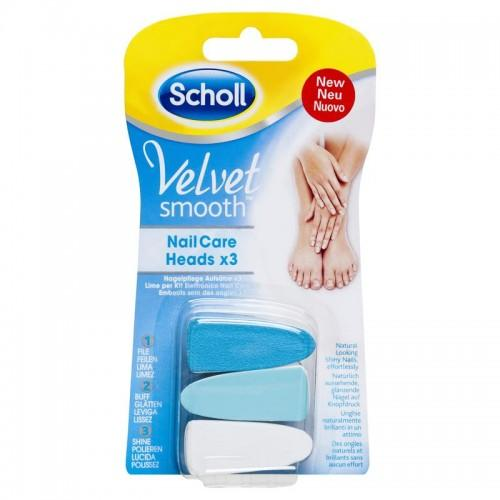 Scholl Velvet Smooth NailCare Heads Refills (3 Pieces)