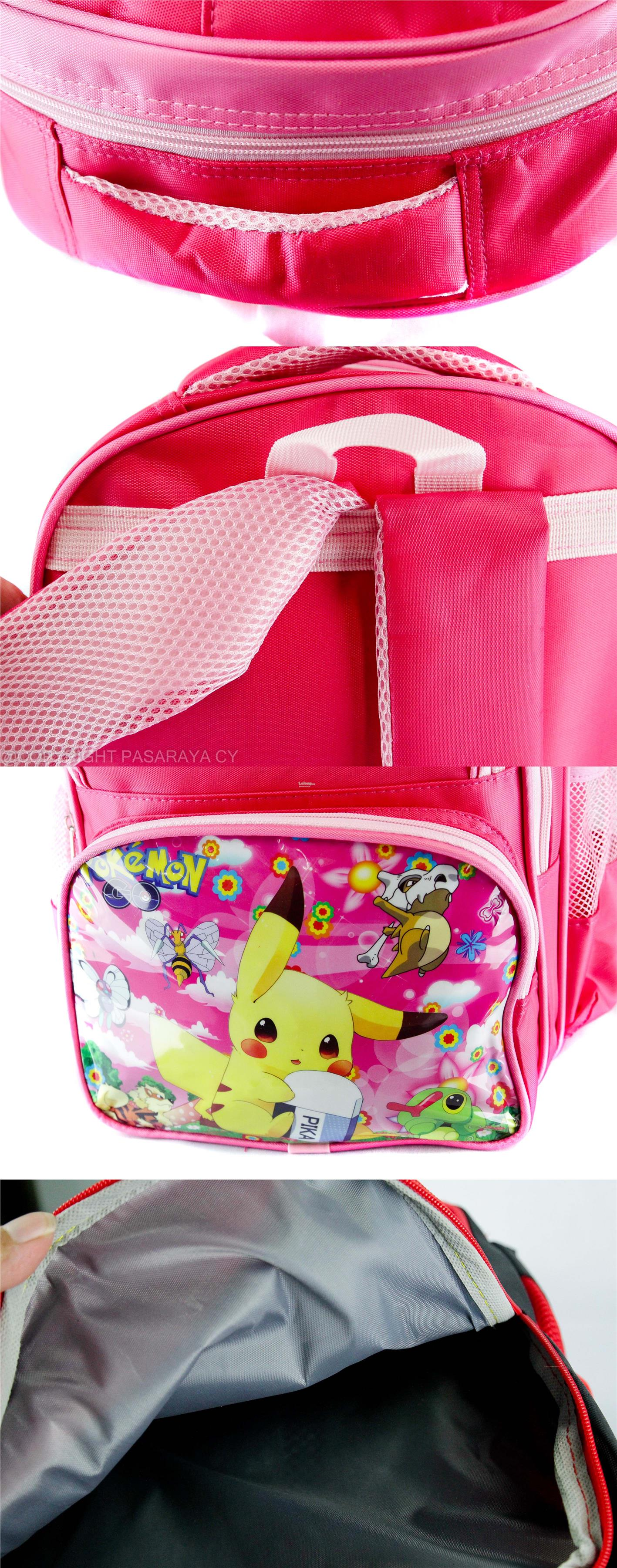 SCHOOL,BAG,SEKOLAH,CARTOON,DISNEY,POKEMON,PIKACHU