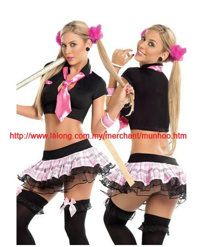 School Girl Lingerie Halloween Cosplay Uniform Costume C80374
