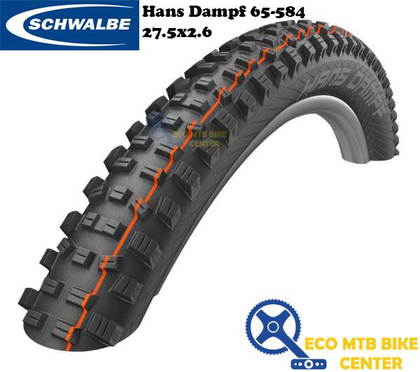 SCHWALBE Tire Hans Dampf 65-584 Evo SuperGravity TLE, Folding 27.5x2.6