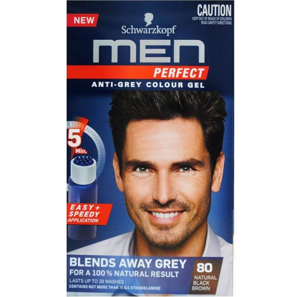 Schwarzkopf Men Hair Colour 80 Natural Black Brown