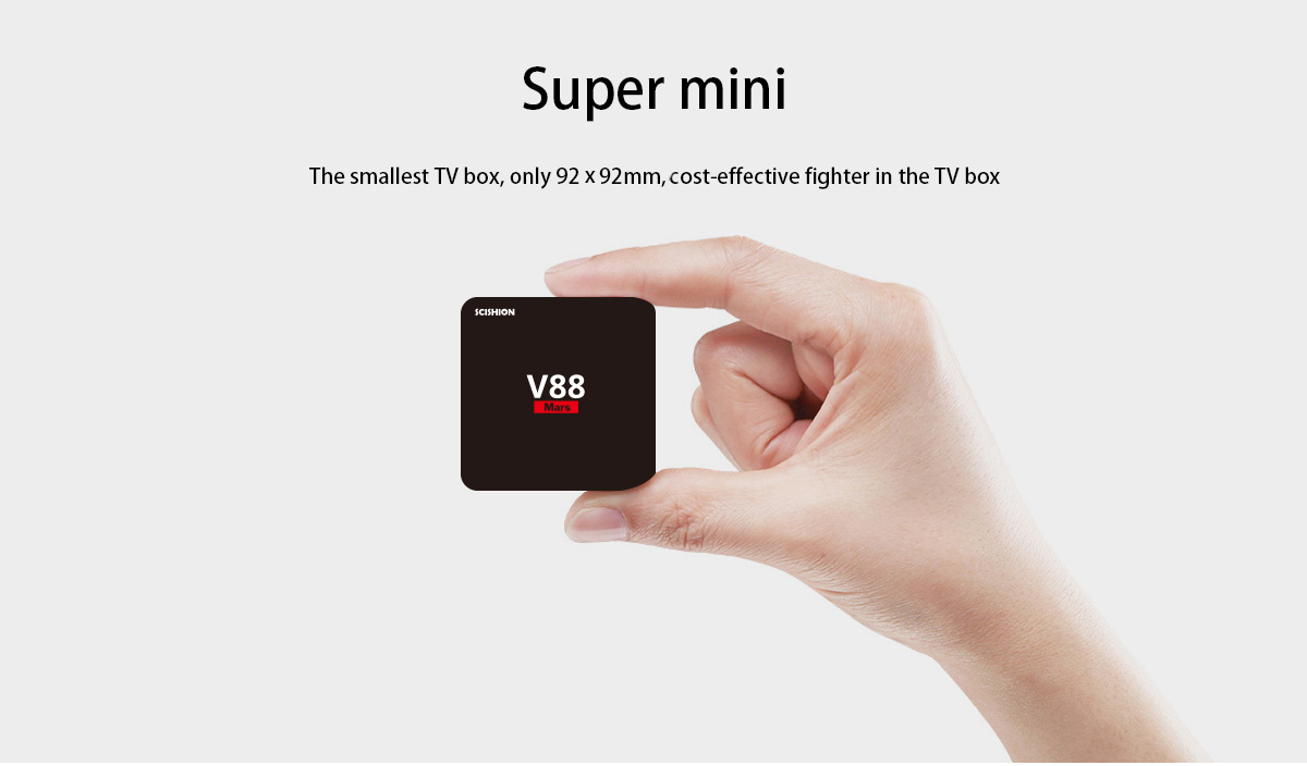 SCISHION V88 Mars Android TV Box RK3229 1GB + 8GB