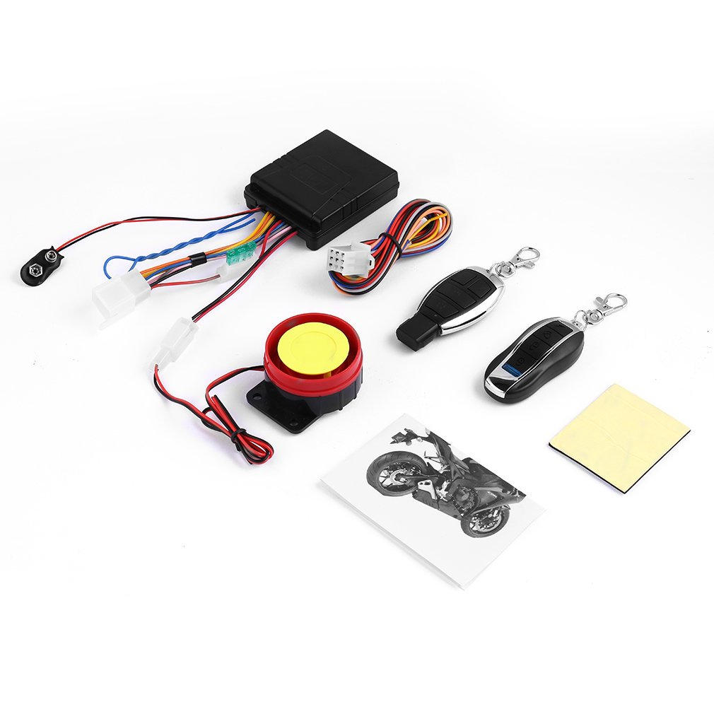 Scooter Alarm System Motor Lock Safety 2 Remote Control Anti-Theft Mop..
