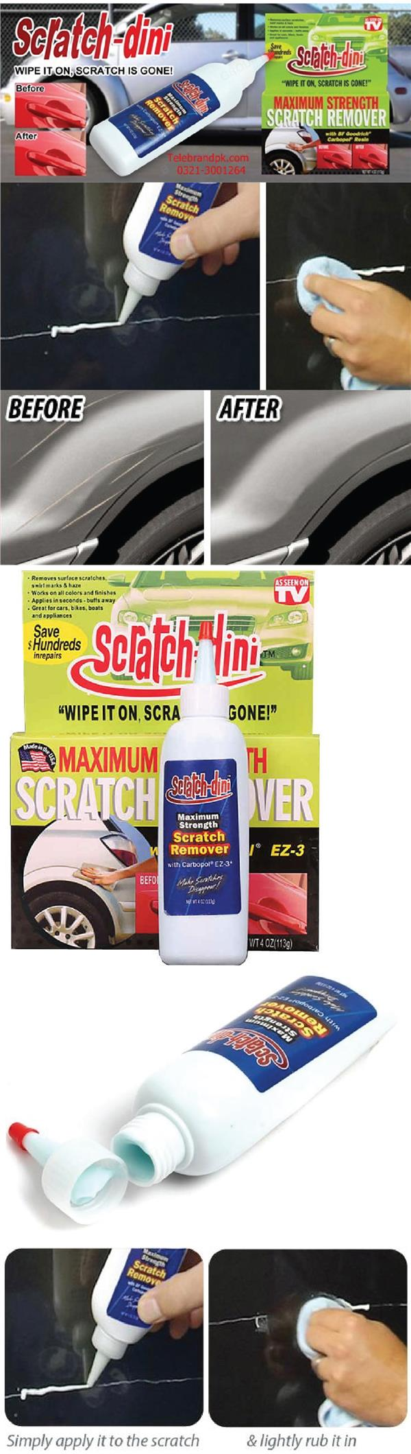 Scratch-Dini Maximum Strength Scratch Remover Dissapear Car Motorcycle