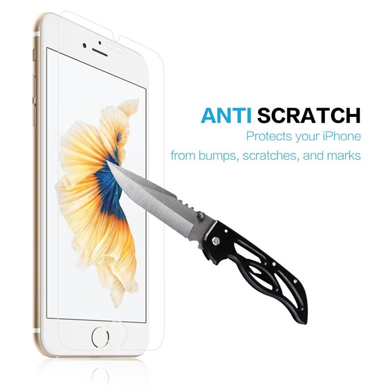 Screen Protector for Apple iPhone 6 and iPhone 6s, 4.7-Inch, Tempered