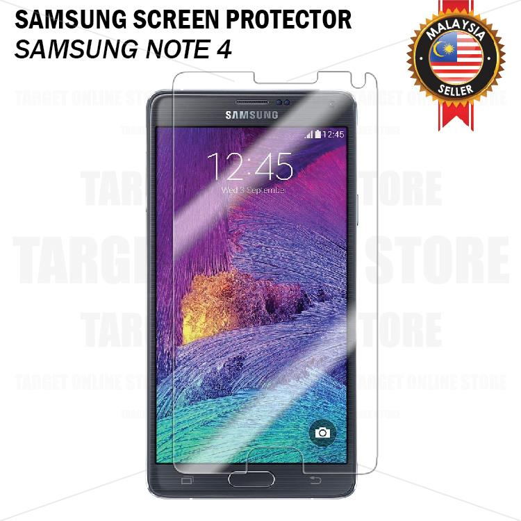 Screen Protector Samsung NOTE 4 Screen Guard Transparent White