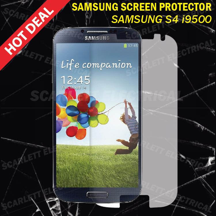 Screen Protector Samsung S4 i9500 Screen Guard Transparent White