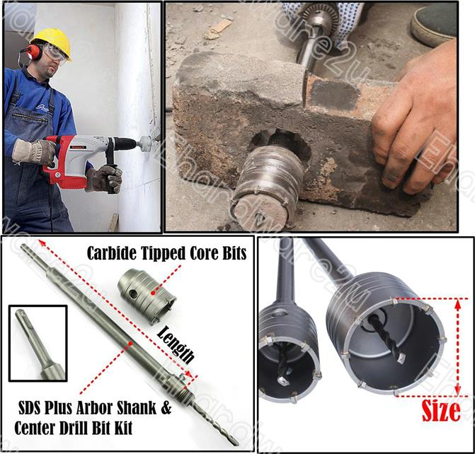 SDS Plus Carbide Tipped Masonry Core Drill Bit (5008A)