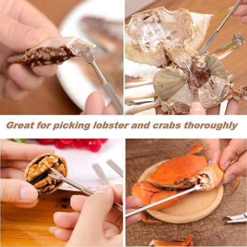 Seafood Tools Crab Crackers Stainless Steel Lobster Crackers and Picks Set For