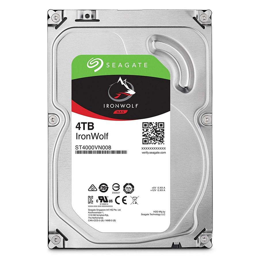 SEAGATE 3.5' IRONWOLF 4TB SATA 6GB/S 5900RPM (ST4000VN008)