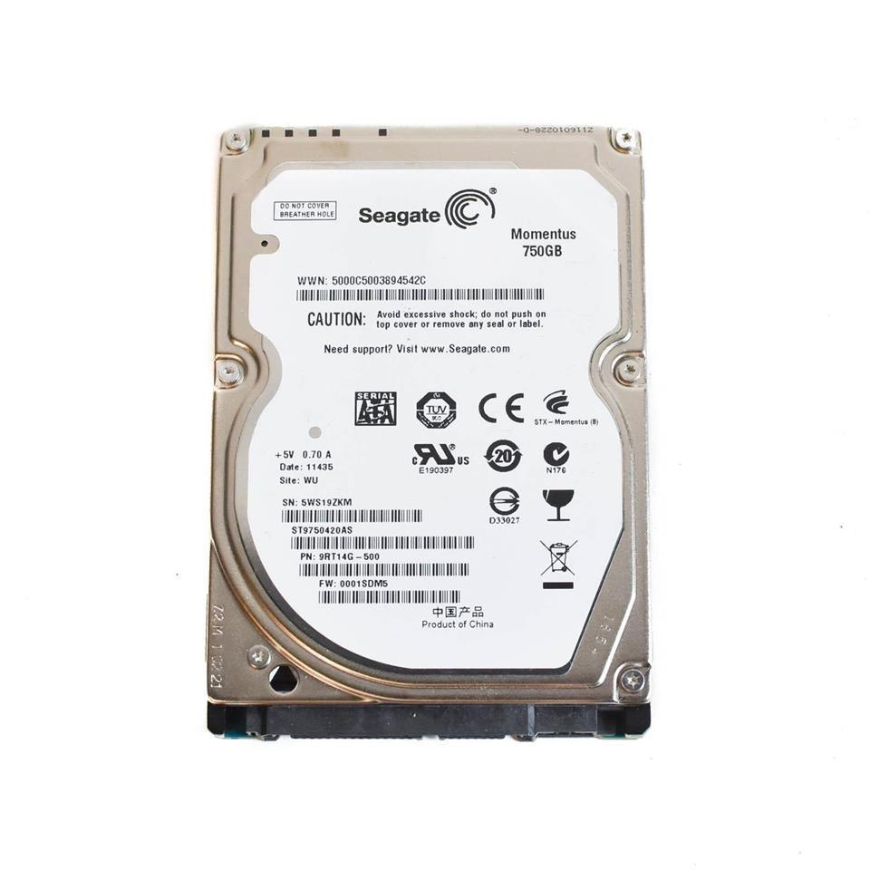 Seagate 750GB Sata 2.5' hard disk drive HDD replace 1TB 500GB