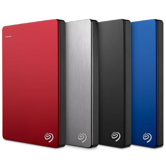 Seagate Backup Plus Slim 2TB Portable (Blue) - Free Pouch!