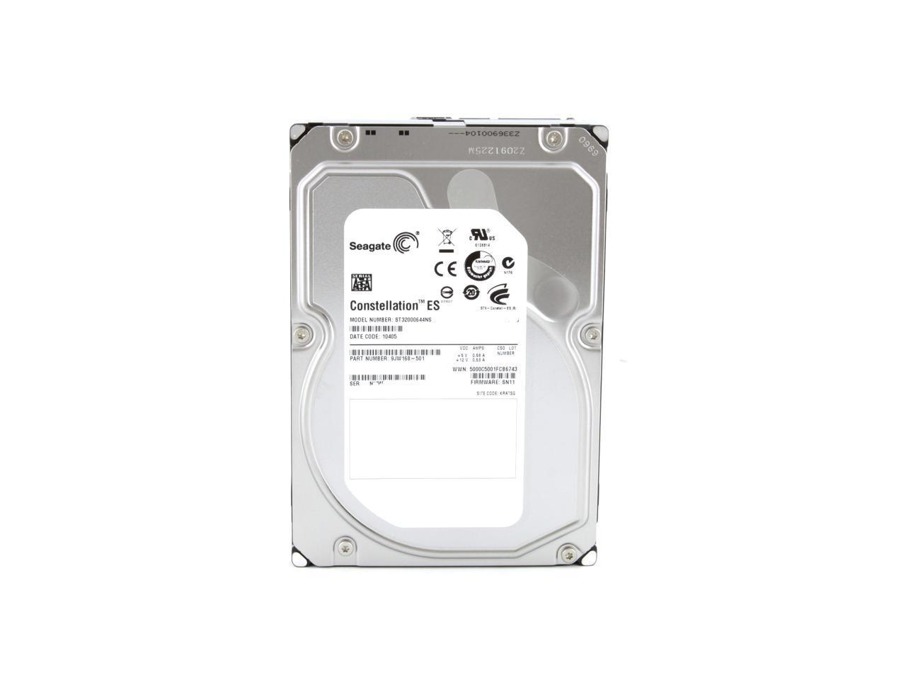 Seagate Constellation ST32000644NS 2TB 7.2K 64MB Cache 3Gb/s 3.5' HDD