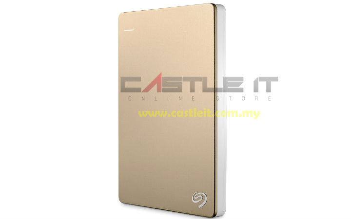 SEAGATE HDD EXT 2.5' USB3 BACKUP PLUS SLIM 1TB (STDR1000309) GOLD