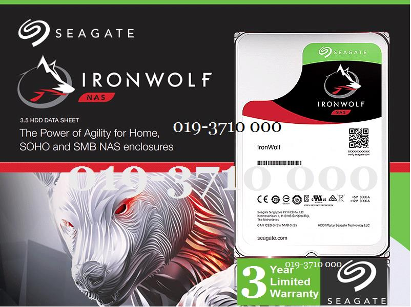 SEAGATE IRONWOLF HDD INT DESKTOP NAS 6TB 128MB ST6000VN0041 -NEW MODEL