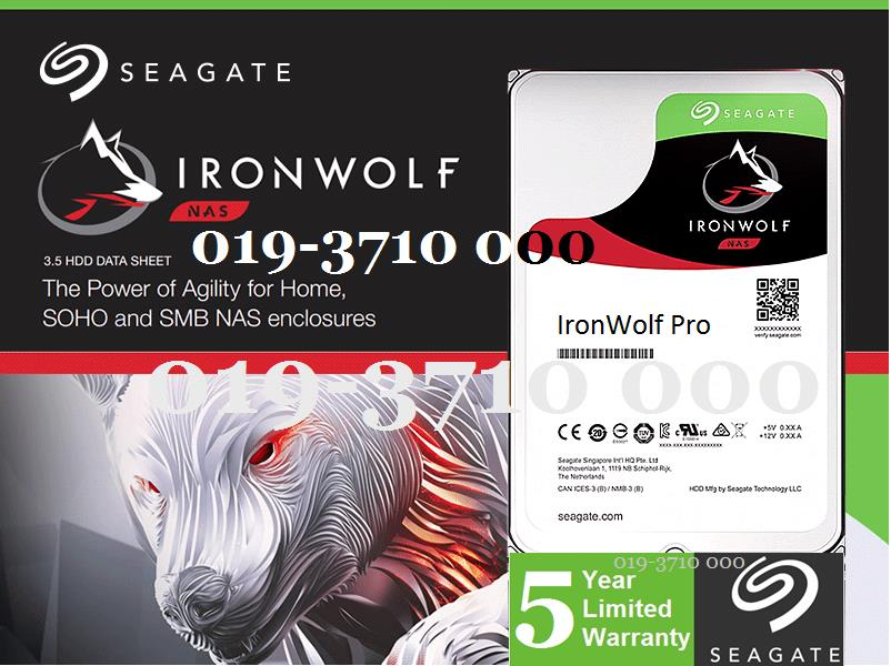 Seagate IRONWOLF PRO 4TB SATA NAS ENTERPRISE HD 128MB (ST4000NE0025)