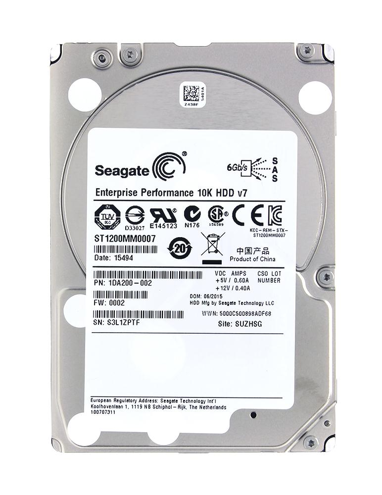 Seagate ST1200MM0007 1.2T 2.5-inch 10K SAS Server Hard Drive