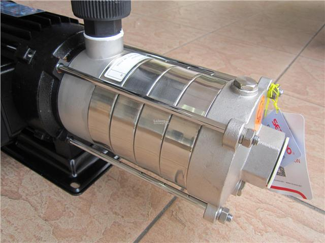 Seakoo 1.5HP (4-5PC) Stainless Steel Multi-Stage Silent Booster Pump