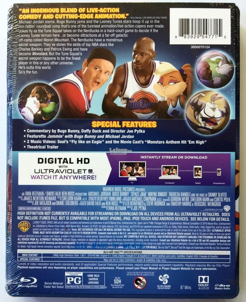 NEW SEALED SPACE JAM BLU RAY DVD + DI (end 1/2/2017 9:15 PM)