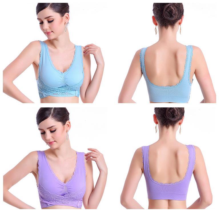 a13101add6 Seamless Lace Cotton Push Up Maternity Nursing Sport Genie Bra
