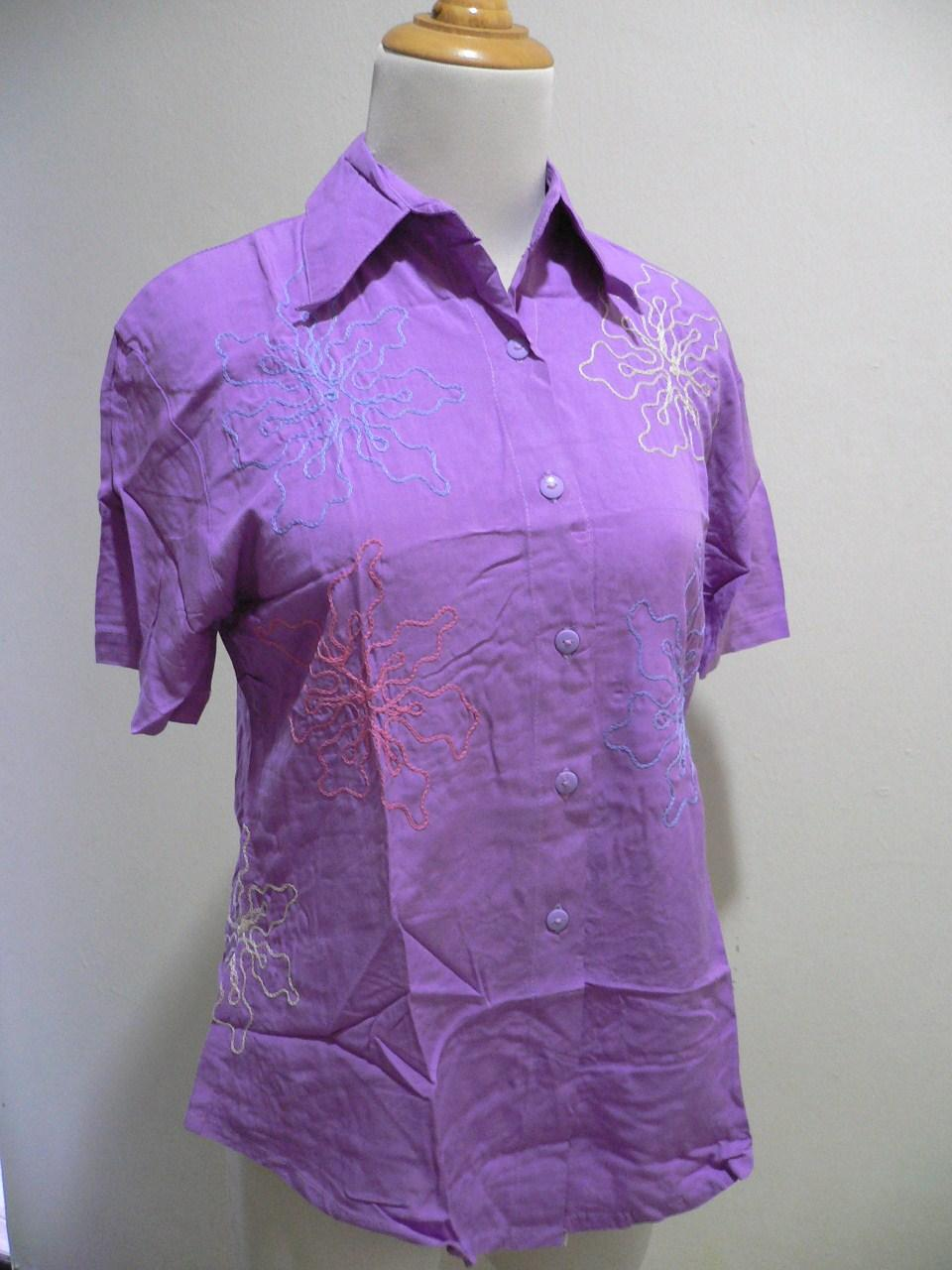 'SEASON' Lady Stick Shirt -Purple