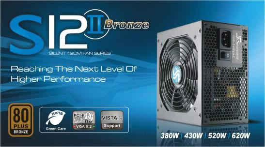 # SEASONIC S12 II 430W/520W/620W - 80Plus Bronze Single Rail PSU #