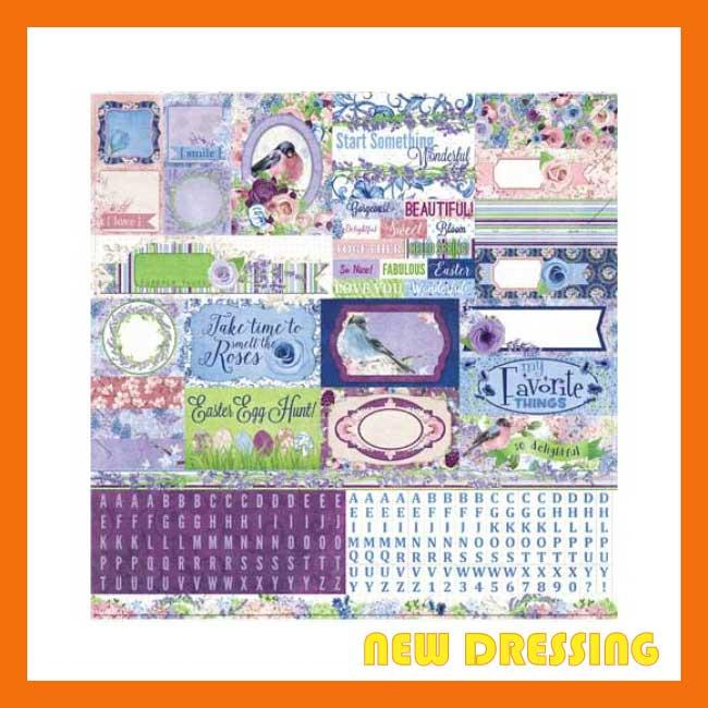 Secret Garden (12' x 12' Sticker Sheet) - Zakka/Diary/Photobook DIY